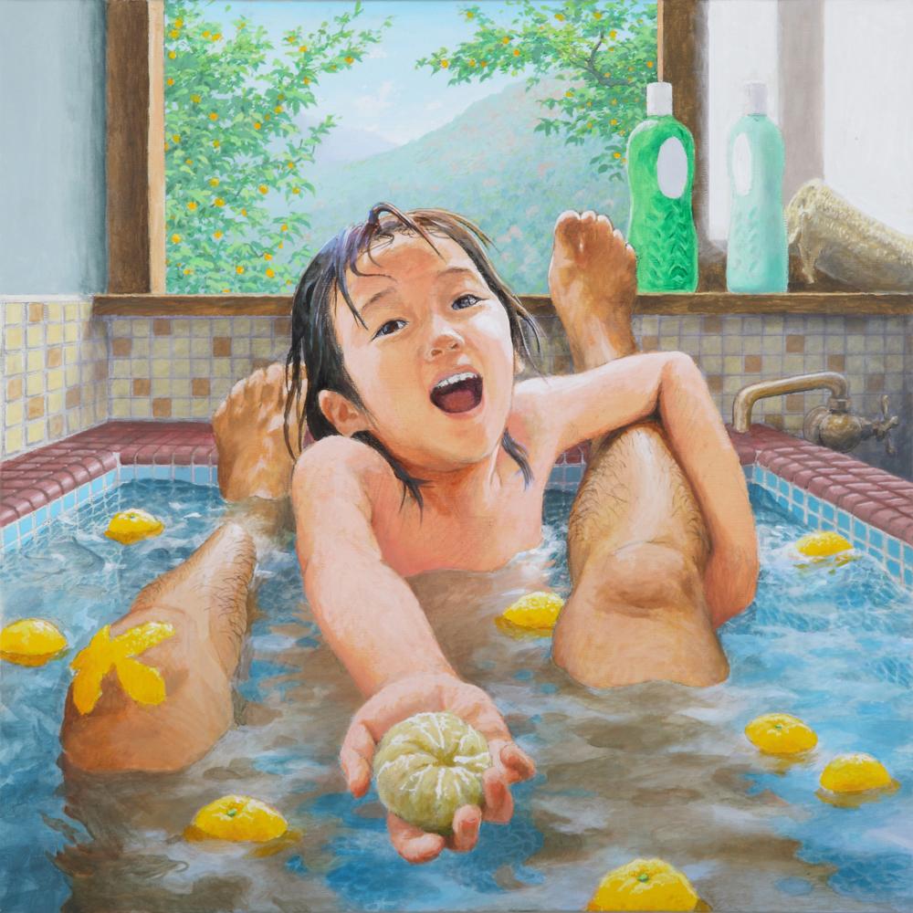 ゆず湯 2015 キャンバス、アクリル絵具 72.5×72.5cm 撮影:宮島径
